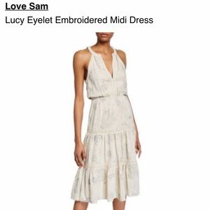 🆕 NWT Love Sam Lucy Eyelet Embroidered Dress L